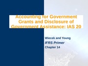 IAS 20 - Government Grants