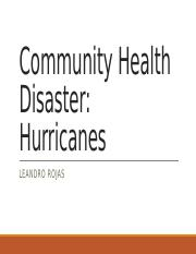 Community Health Disaster_hurricaines.pptx
