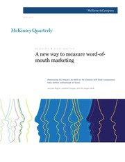 A new way to measure word-ofmouth MARKETING