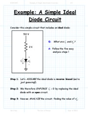 Example_A Simple Ideal Diode Circuit