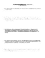 essay middle passage essay middle passage it is important to  1 pages interesting narrative questionnaire