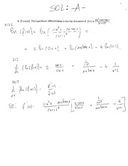 Logarithm diffrentiation