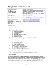 Syllabus PHIL 160D2 Fall 2013