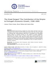 The_Great_Escape_The_Contribution_of_the