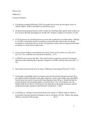 Midterm 2 Practice Problems