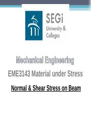 08 - Normal and Shear Stress on Beam