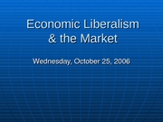 14 Economic Liberalism and the Market