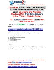 [2017-Aug]Braindump2go New 210-060 PDF Dumps and 210-060 VCE Dumps 225q Free Share(1-10).pdf