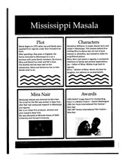 Mississippi Masala Class Notes
