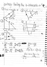 math classnote: finding the x-intercepts or y-intercepts math problems