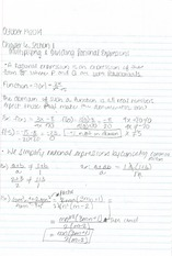 Intermediate Algebra Section 6.1 and 6.2