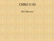 CHM1311 Final Review