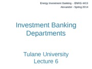 6a. Investment Banking Departments