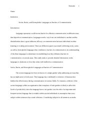 Languages as Barriers of Communication.docx