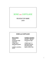NBME BONE  CARTILAGE REVIEW 2004