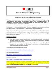 Guidelines for Writing Laboratory Reports RMIT ZOUEV 2015.doc