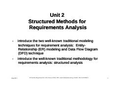 Part 1 - Unit 2 - Structured Methods for Requirements Analysis - Copy