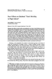 race effects on students' track mobility in high school