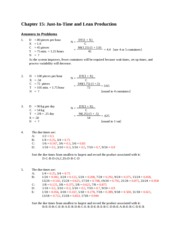 Chapter 15 - Answers to problems