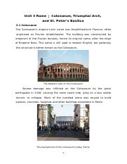 3 Rome:Colosseum,Triumphal Arch, and St.Peter's Basilica p16-21