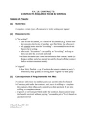 Ch13 Contracts - Writing Requirement