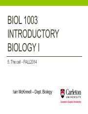 BIOL1003 -5_The cell - Fall2014