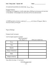 6-23,24 - Worksheet -Energy.pdf - Worksheet Energy 1 What is the KE ...