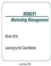 LV - Learning by the Case Method - Winter 2016
