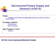 Oct 26 Primary and Derived Supply and Demand