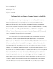 'The Power Between Chinese Men and Women' Expository Draf