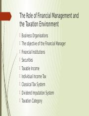 Role of Financial Management and the tax environment.pptx
