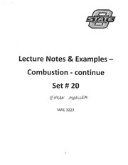 20 - Lecture Notes and Sample Problems - Set # 20 Combustion continue