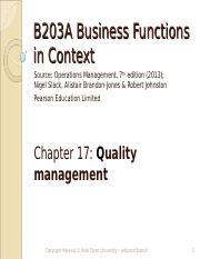 B203A chap 17 Operations Management.ppt