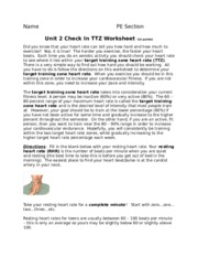 Unit 2 HR and Calculating Your TTZ (2)