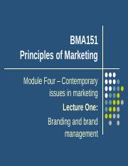 Lecture 10 Branding and brand management