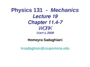 Physics131 Power Point Lectures