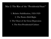 Rise of the Presidential State