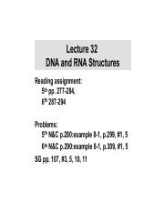 32.DNA and RNA structures
