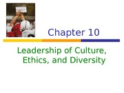 _Leadership of Culture, Ethics and Diversity