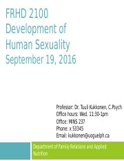 Development of human sexuality university of guelph