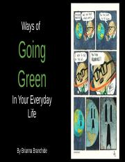 Ways of  Going Green In Your Everyday Life