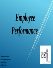 Unit 4 Individual Project Employee Performance_001.pptx