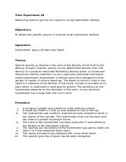 261555910-Lab-Report-Operation-Unit-Experiment-1-b-Measuring-specific-gravity-of-a-liquid-by-using-h