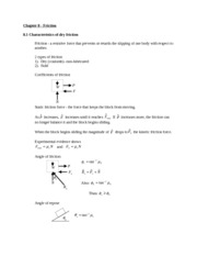 Statics Lecture Notes on Chapter 81