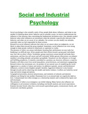 Social and Industrial