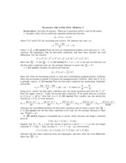 Midterm 2 Answers Econ 326 Fall 2013