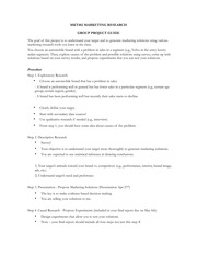 MKT402 Group project and Individual assignment
