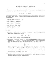 Course notes on Measurable Functions