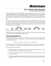 RIT2 Case Brief - EV1 - Relative PE Valuation.pdf