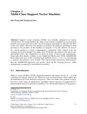 SVM_tut - Chapter 2 Multi-Class Support Vector Machine Zhe